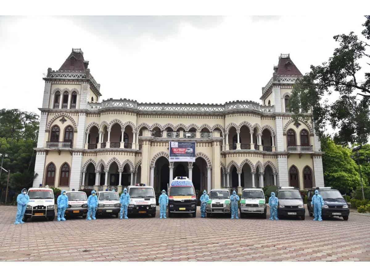 AK Khan flags of a fleet of 14 ambulances for COVID-19 patients