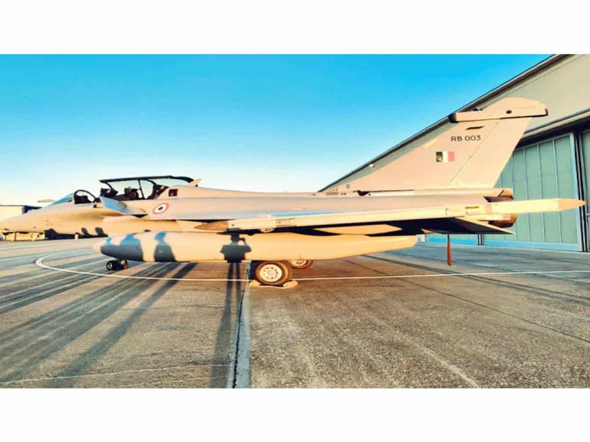 First 5 Rafale fighters arriving in New Delhi on Wednesday