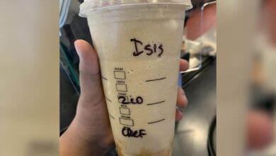 "Photo of Muslim woman sues Starbucks for ""ISIS""racial slur"