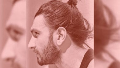 Photo of Ranveer flaunts man bun styled by Deepika