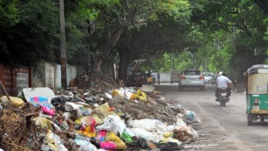 Photo of Nice Hospital Shanti Nagar littered with trash outside entrance