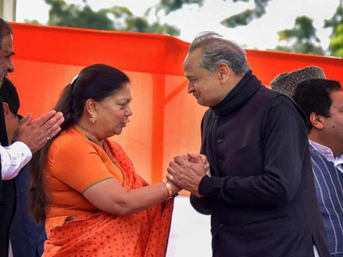 Is BJP's tough lady Vasundhara stalling party attempts to dislodge Gehlot?