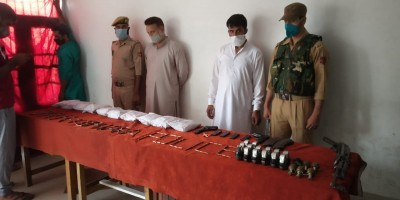 Terror hideout busted in Kashmir; arms, ammunition seized