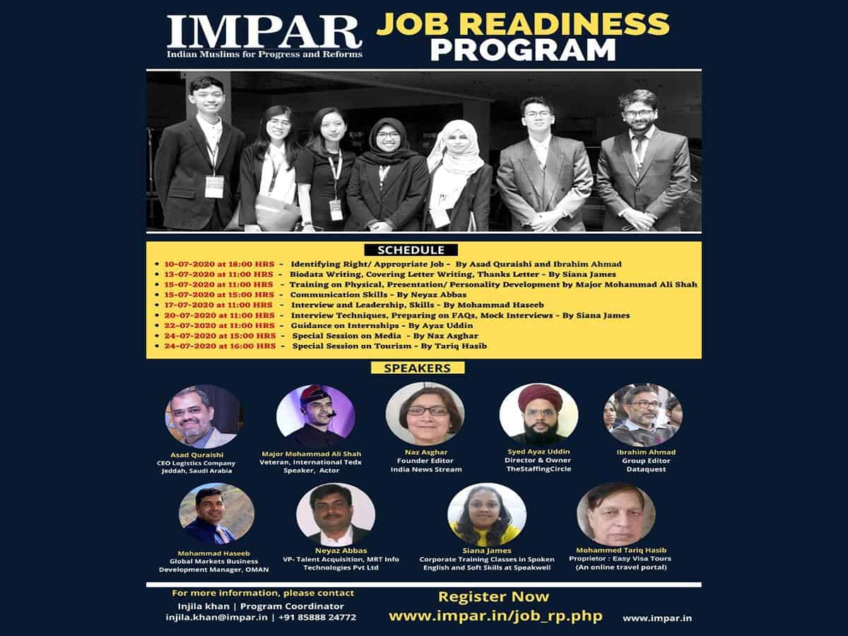 Job readiness webinar to be held by IMPAR
