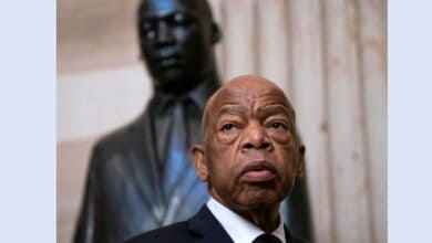 Photo of US civil rights icon John Lewis passes away
