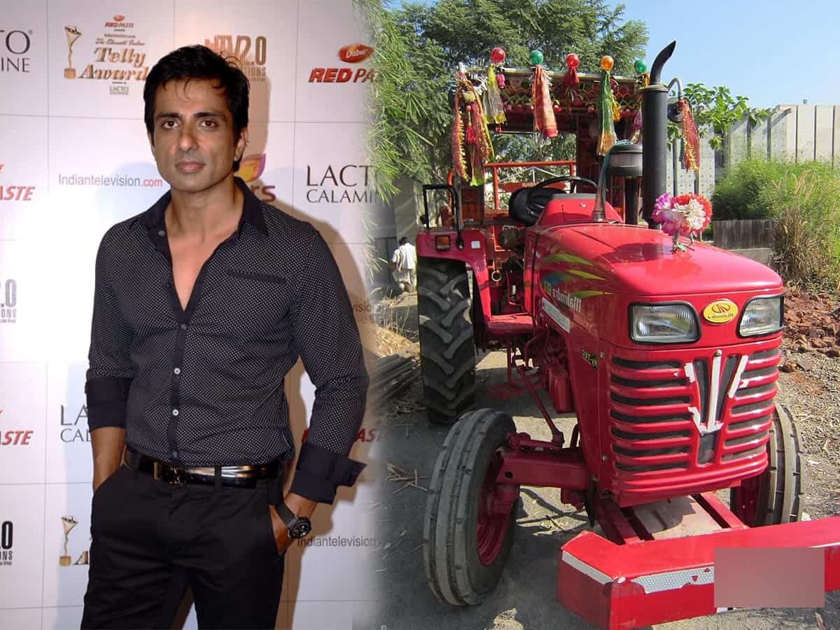 Actor Sonu Sood gifts tractor to AP farmer after video of his plight goes viral