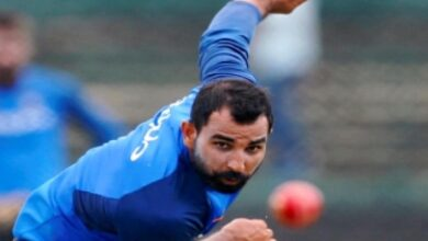 Shami gets bowling practice at his farmhouse