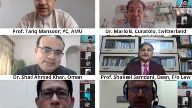 Photo of Webinar on 'Civil Society and Contemporary Legal Issues' by AMU