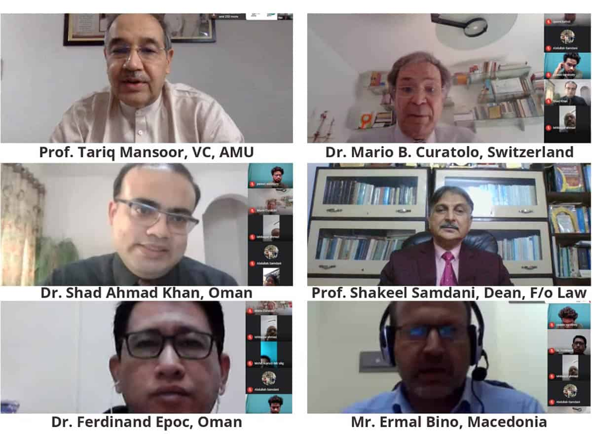 Webinar on 'Civil Society and Contemporary Legal Issues' by AMU