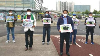 Photo of Andhra NRIs protest in solidarity with Amaravati movement