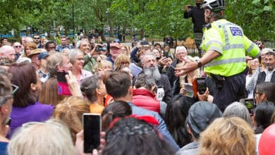 Photo of Anti-face mask protesters gather in London