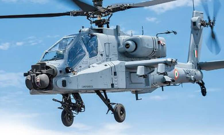 IAF received last 5 of 22 Apache attack helicopters in June