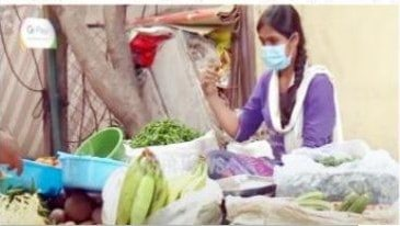 Photo of Software engineer sells vegetables after she loses her job