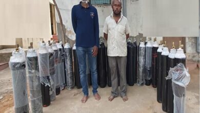 Photo of Two arrested for black marketing of oxygen cylinders