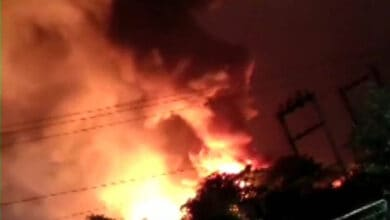 Photo of Huge fire breaks out in Vizag Pharma City
