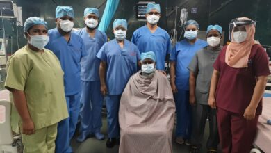 Photo of COVID recovered patient Afsar Khan undergoes successful triple bypass surgery