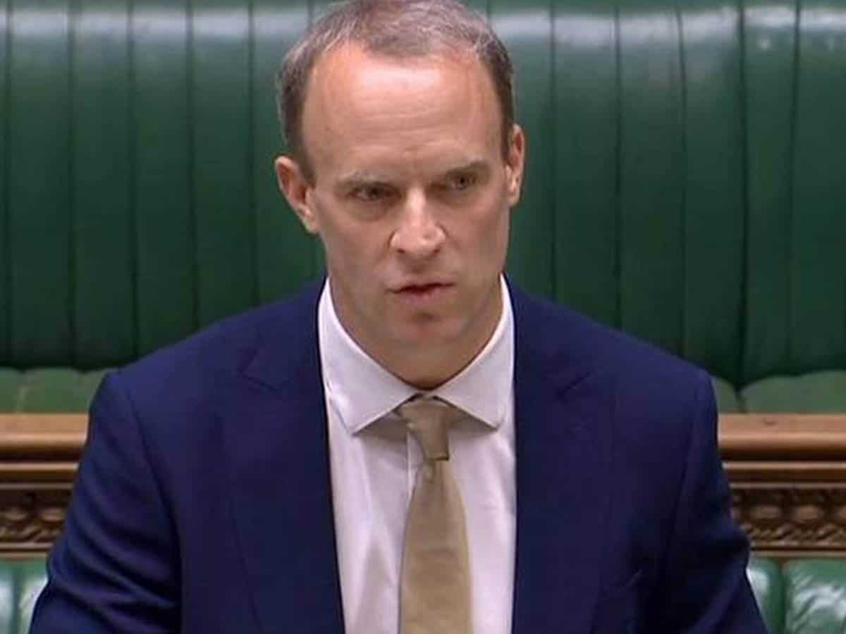 ) UK Foreign Secretary Dominic Raab