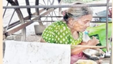 Photo of Son snatches money from ailing mother, abandons her on road