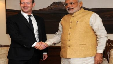 Mark Zuckerberg with PM Modi