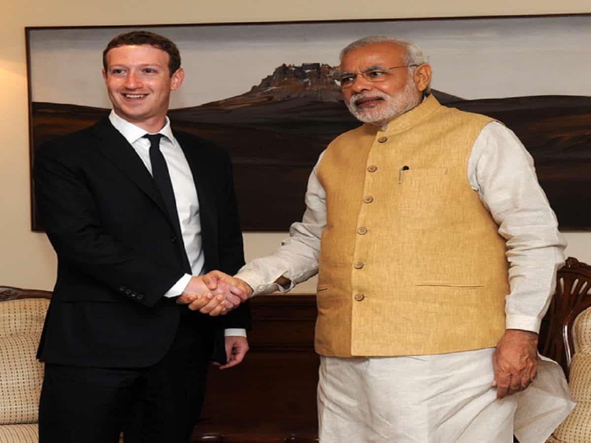 Mark Zuckerberg with PM Modi
