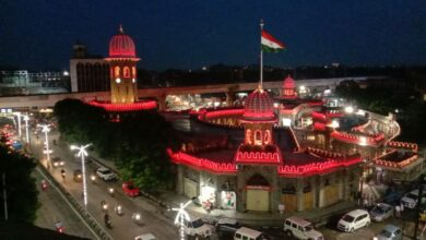 Photo of Hyderabad decked out in tri-colour for August 15