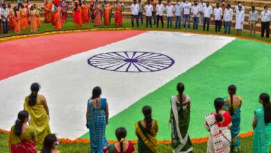Photo of Tricolour rangoli in Bengaluru