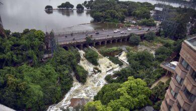Photo of Hyderabad: Water level of Hussain Sagar Lake rises