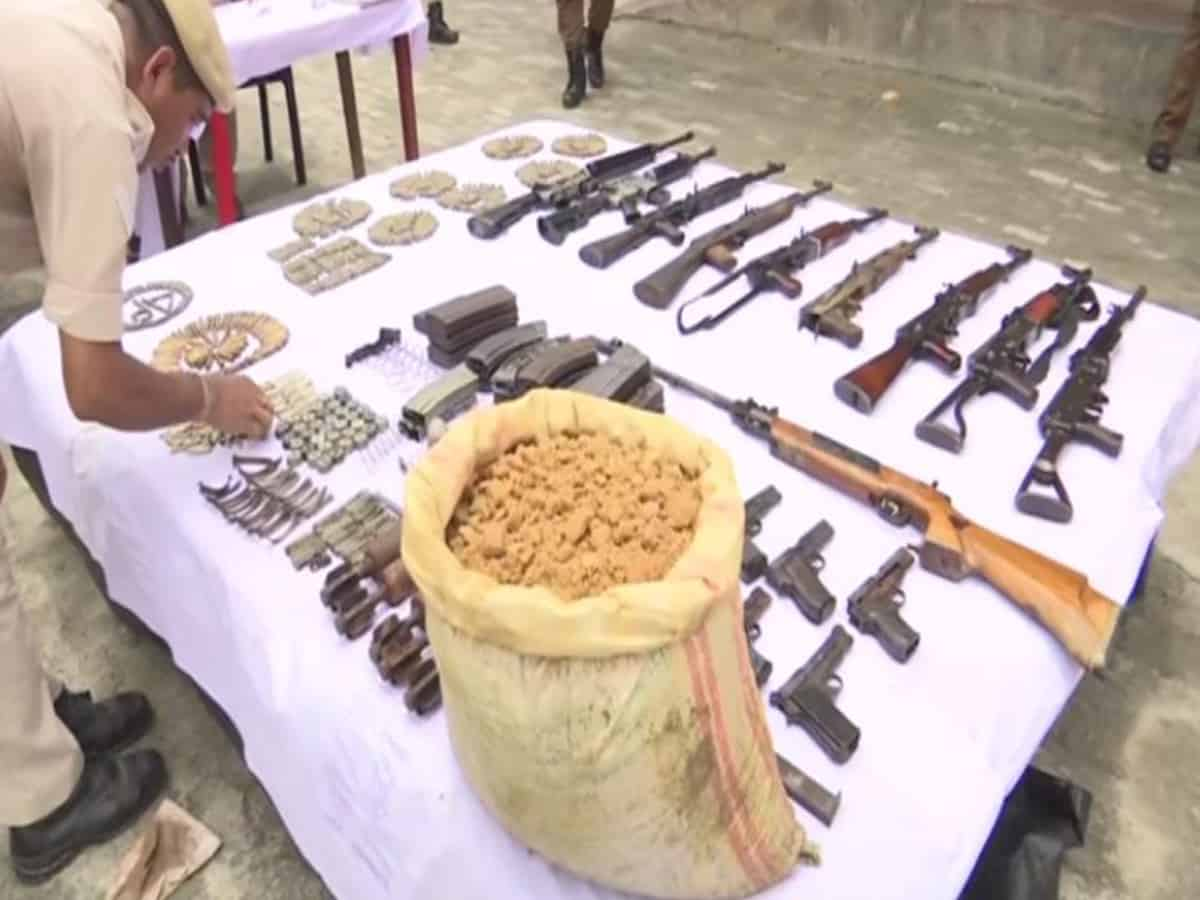 Police recover huge cache of arms, ammunition and explosives in Assam's Udalguri