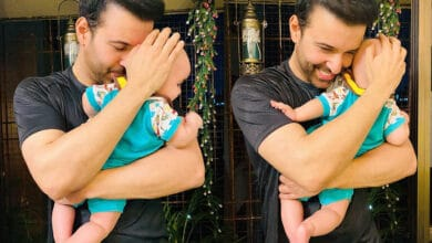 Photo of Aamir Ali shares first glimpse of his daughter