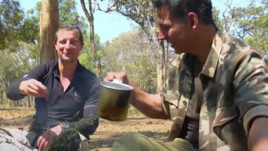 Photo of Watch: Akshay Kumar drinks 'elephant poop tea' with Bear Grylls in 'Into The Wild'
