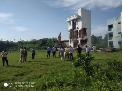 BSP MLA Mukhtar Ansari's illegal property demolished