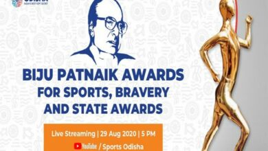 Photo of Jayanti Bahera, Deep Grace Ekka receive Biju Patnaik Sports Award