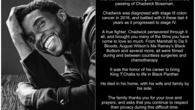 Photo of Chadwick Boseman's last post was most-liked tweet ever