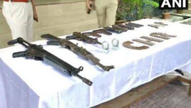 Photo of Police seize cache of weapons from Assam's Chirang