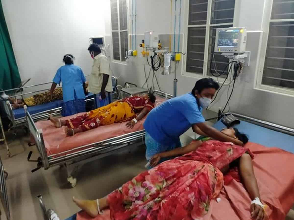 14 hospitalised after a gas leak at milk dairy unit in Andhra