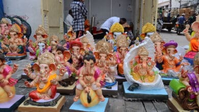 Photo of Ganesh festivities begin on a subdued note, BJP protest restrictions