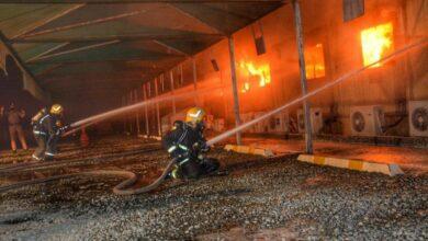 Photo of Saudi Arabia: Civil Defense controls fire at Haramain Train Station