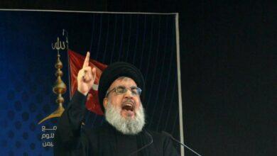 Photo of Hassan Nasrallah denies Hezbollah role in Beirut blast