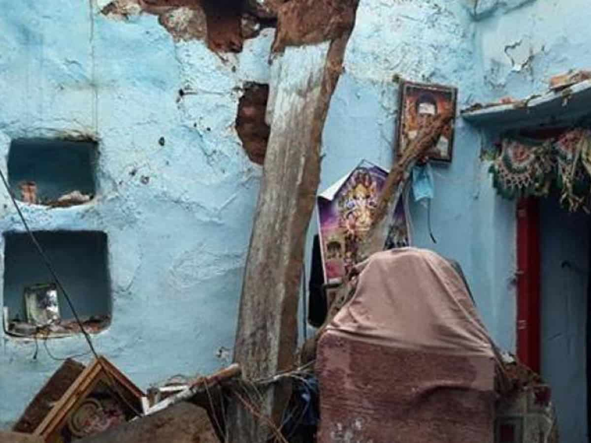 Woman, two minor daughters die after roof of house collapses