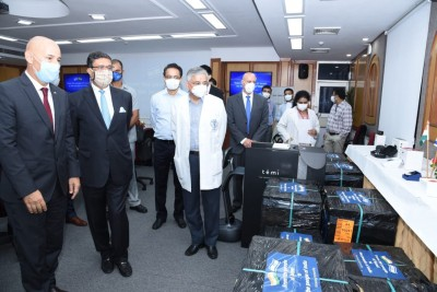 Israel shares ground-breaking technology with AIIMS to tackle Covid