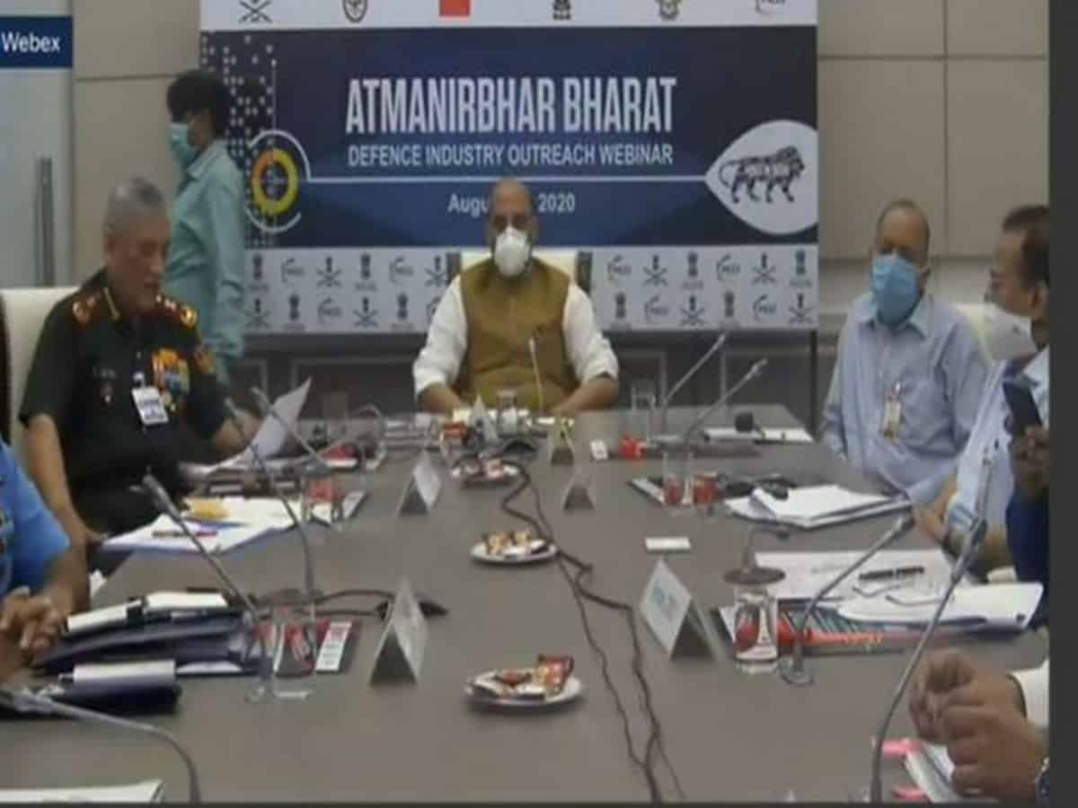 With collaborative, cooperative efforts we will achieve 'Make for World' in defence sector: Rajnath Singh