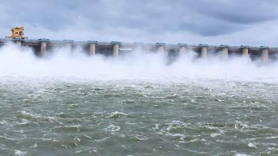 Krishna river in rain-hit Karnataka flows near danger mark