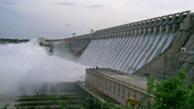 Photo of 18 gates of Nagarguna Sagar dam lifted, visitors prohibited