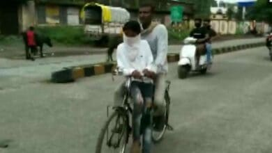 Photo of MP man cycles 105 km to ferry son to Class 10 exam centre