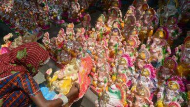 Photo of COVID effect: Sharp drop in sale of Ganesh idols in Hyderabad