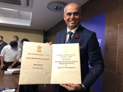 Nilesh Kulkarni's IISM receives Rashtriya Khel Protsahan Puruskar