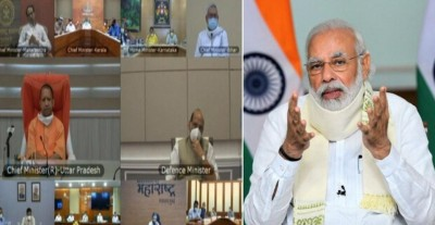 PM reviews flood situation with CMs of six states