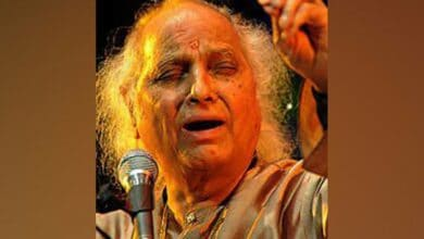 Photo of Pandit Jasraj cremated with state honours