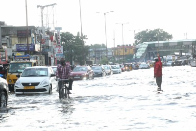 Rains, slippery or water-logged runway may cause hydroplaning