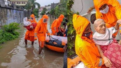 Photo of Rescue operations continue in Warangal as heavy rains come to halt